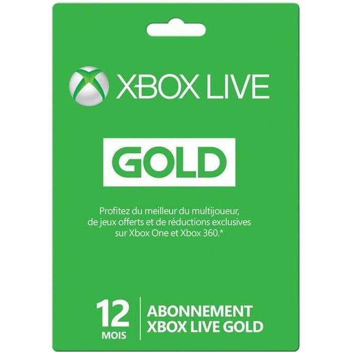 Carte De Credit Prepayee Xbox One.Abonnement Xbox Live Gold 12 Mois