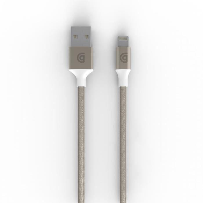 Griffin Cable Lightning Premium (pour iPhone et autres produits Apple) 1,5m - Or