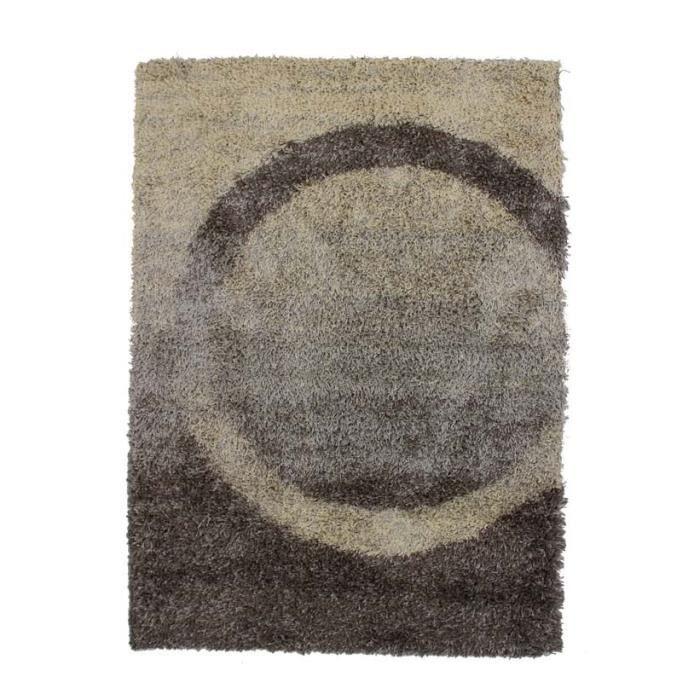 Cercle - 120x170cm - M - Gris - Très chaleureux - 100% polypropylène heat set - Hauteur de poil: 2,5cmTAPIS - DESSOUS DE TAPIS