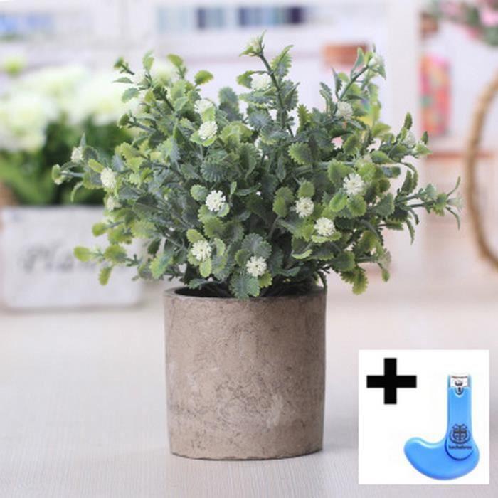 Plante Artificielle Petite Fleur Artificielle En Pot Avec Des Pots
