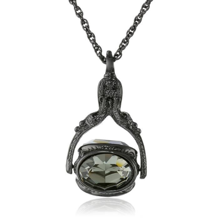 1928 Jewelry Vintage-inspired Rotating Crystal Necklace, 30 J60XP