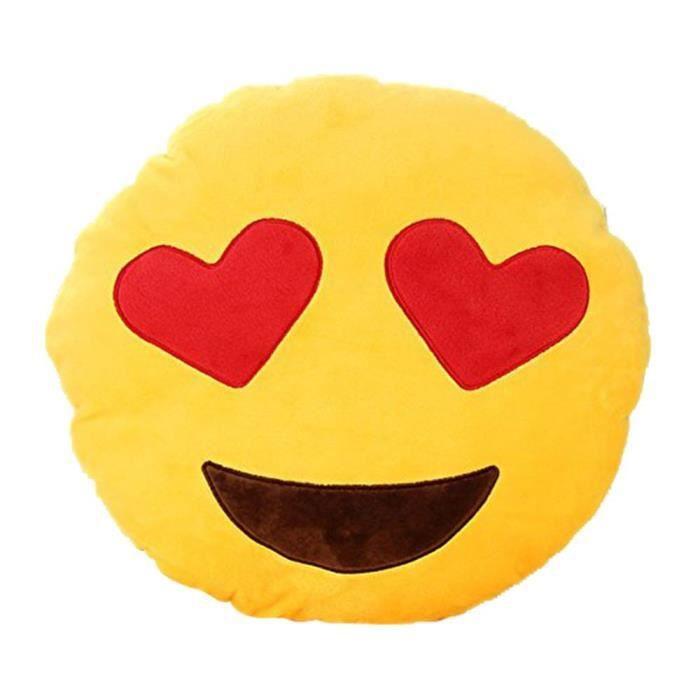 coussin emoji smiley achat vente coussin emoji smiley pas cher soldes d s le 10 janvier. Black Bedroom Furniture Sets. Home Design Ideas