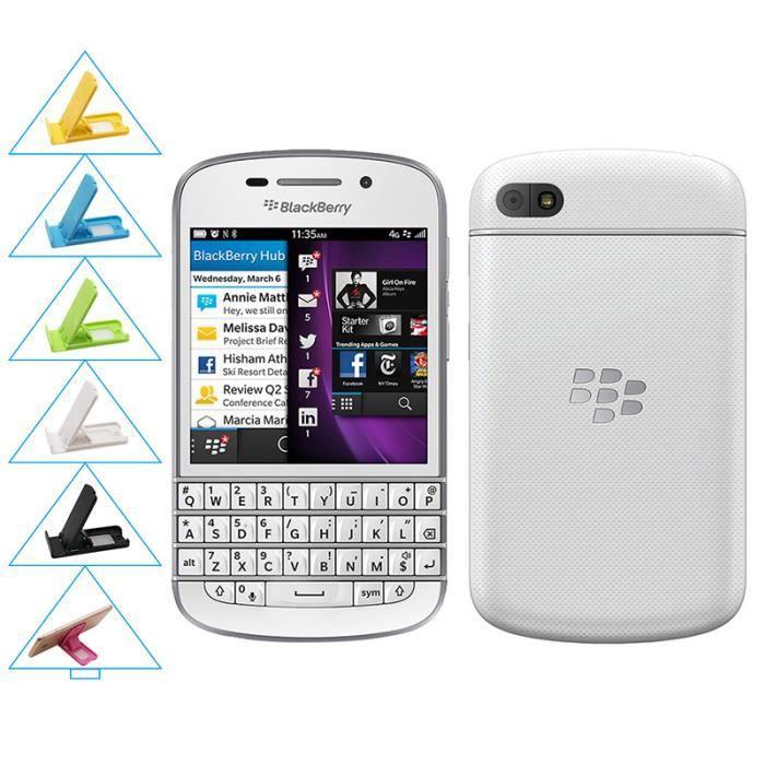 SMARTPHONE Blanc BlackBerry Q10 occasion débloqué remise Grad