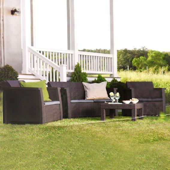 Salon de jardin Keter Vegas Anthracite - 4 places - Achat / Vente ...