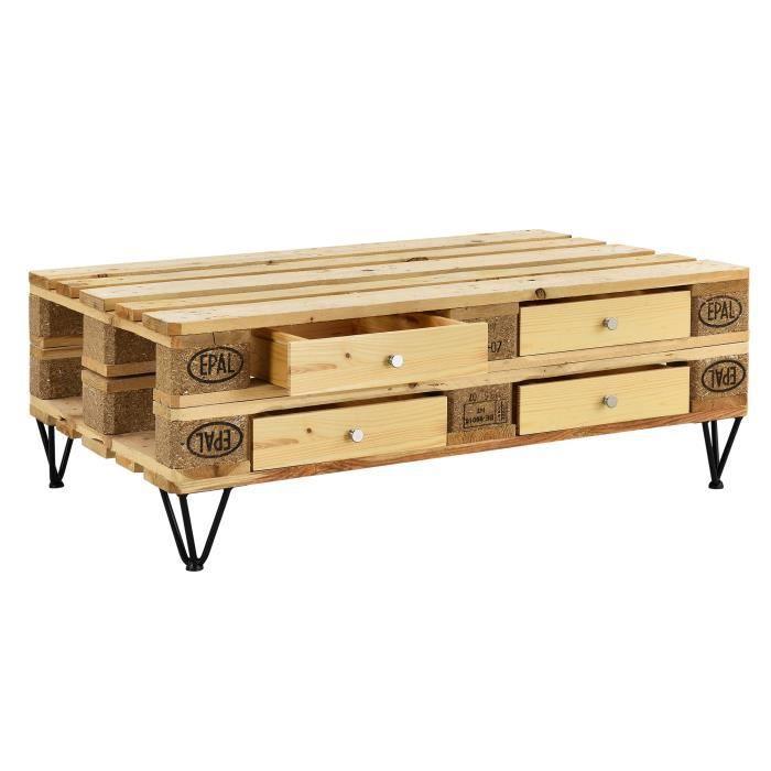 Tiroir pour meuble de palette mdf bois achat vente tiroir coulissant - Meubles en palettes bois ...