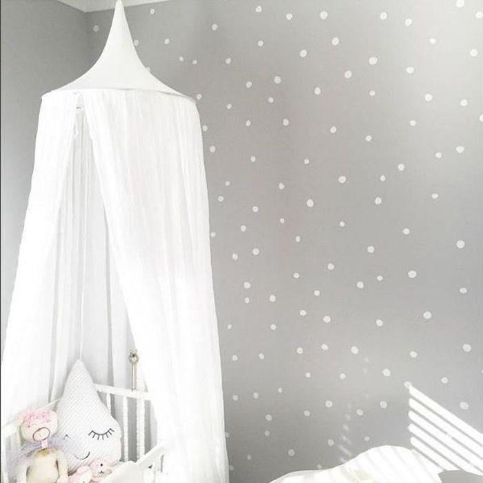 ciel de lit baldaquin moustiquaire rideau linge anti moustiques blanc achat vente ciel de. Black Bedroom Furniture Sets. Home Design Ideas