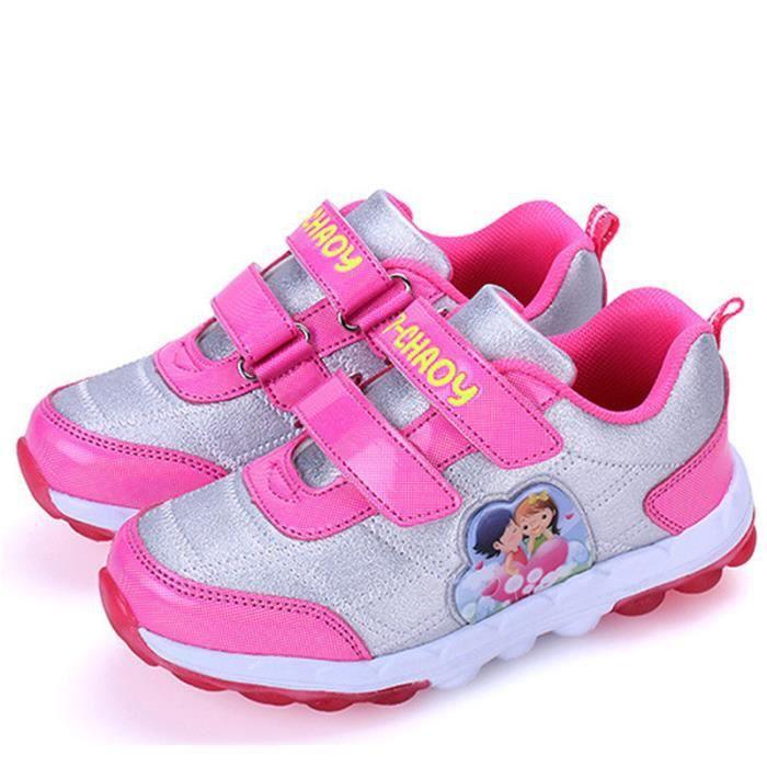 Mode chaussures velcro filles de sport de haute...