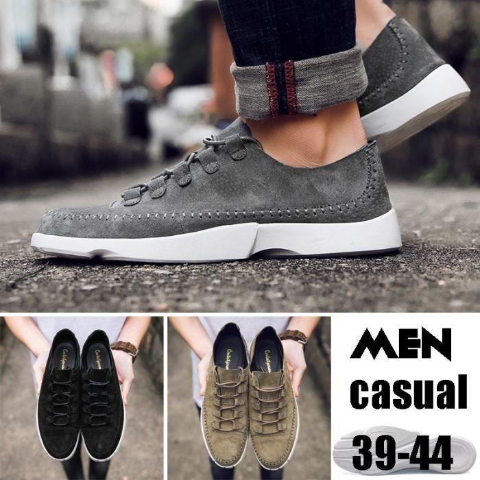 Korean Souliers simple d'homme Chaussures basses Sandales Chaussures Respirant Chaussures de mode Chaussures de sport
