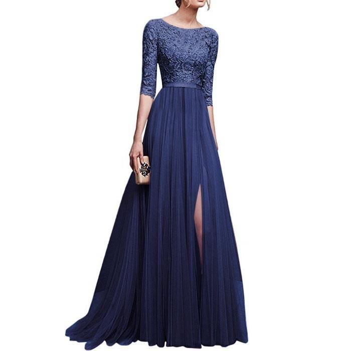 80b750461ea Robe de soiree longue femme grande taille - Achat   Vente pas cher