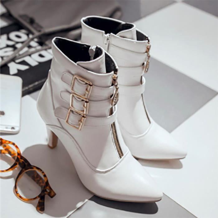 Chaussures Femmes - Bottine Blanc T35