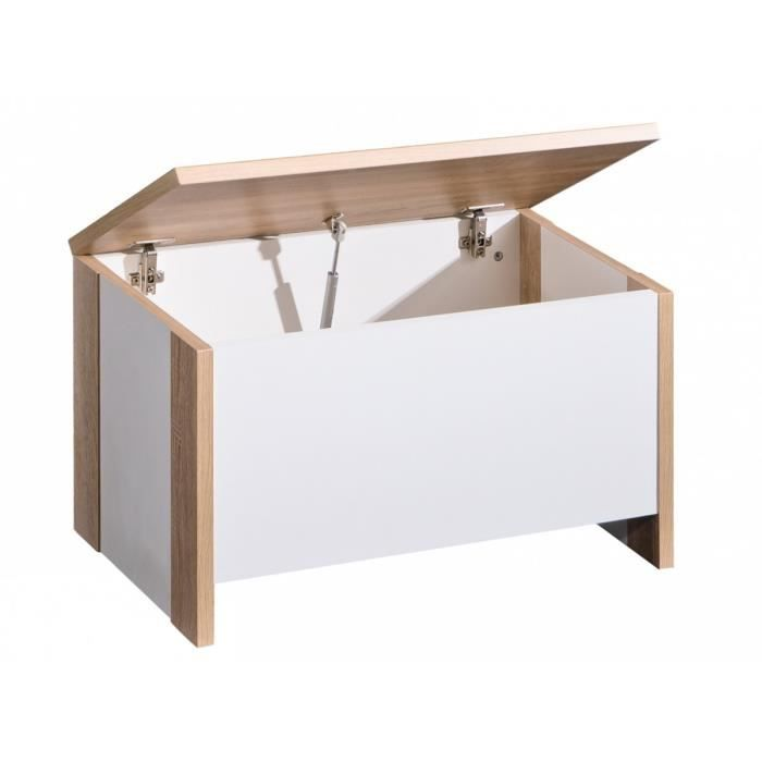 coffre jouets lara ch ne couleur marketing blanc composition bois blanc achat. Black Bedroom Furniture Sets. Home Design Ideas
