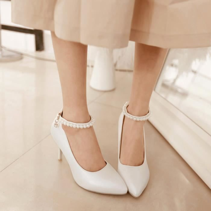 talons hauts-Pure Color High Heel Heel Thin Wom...
