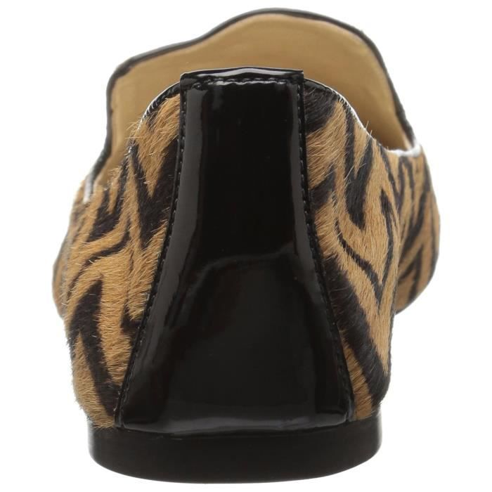 Gaga zigzag Haircalf Slip-on Loafer ZY7XU Taille-41