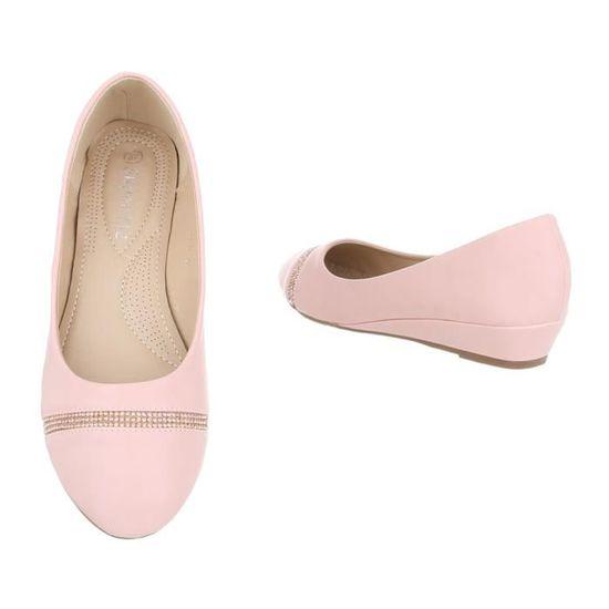 Chaussures femme escarpin semelle compensée rose 41 Rose Rose - Achat    Vente escarpin - Cdiscount fdd1f34fccac