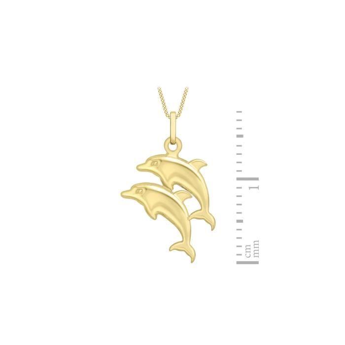 Collier - Femme - Or Jaune 375-1000 (9 Cts) 0.83 Gr Z8P0R
