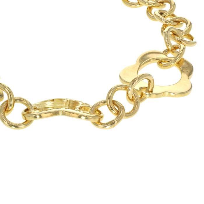 Fine Necklace Bracelet Anklet 9 Carats 375-1000 Plaqué Or 19 Centimeters XLRLH