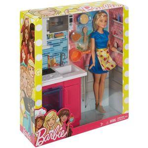 poupe assortiment barbie poupe et mobilier - Barbie Cuisine