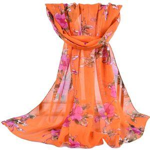ECHARPE - FOULARD Foulard en mousseline de soie châle imprimé femme ... 88d4ecddc85