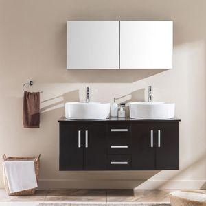 Ensemble meuble salle de bain wenge - Achat / Vente pas cher