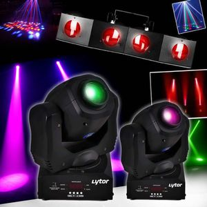 PACK LUMIÈRE PACK 2 LYRES RVB PIXY-30 LED CREE 10W 7 couleurs,