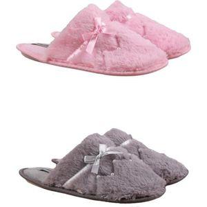 CHAUSSON - PANTOUFLE Pantoufles Femme Lot de 2