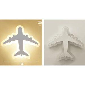 A179 En Intérieur Télécommande Moderne 3 Avec Avion Acrylique Dimmable Murale Luminaire Led Décorative Lampe Applique XOknP8w0
