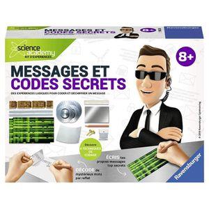 EXPÉRIENCE SCIENTIFIQUE SCIENCE X RAVENSBURGER Mini Messages et Codes Secr