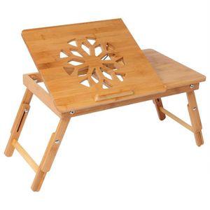 BUREAU  WOLTU Table d'ordinateur en Bambou,Table de lit pl