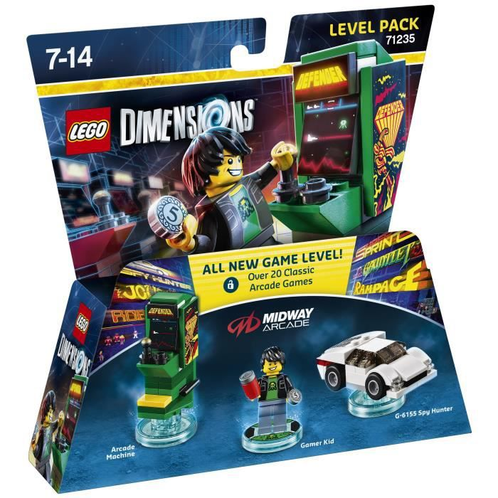 Figurine LEGO Dimensions - Pack Aventure - Midway Arcade