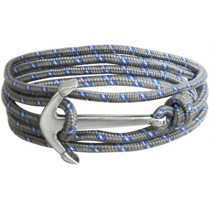 CLIO BLUE Bracelet ancre metal lien grisBRACELET - GOURMETTE - JONC