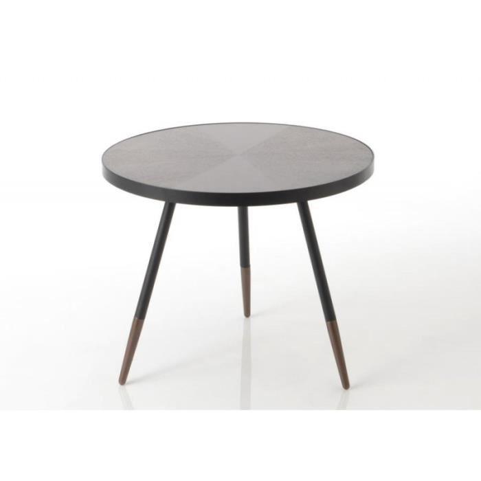Table Art Style Et Noir Basse Ronde Déco Bois Marron En Petite Martin yvNwOm0nP8