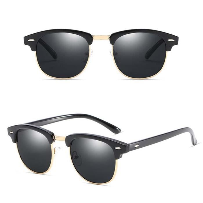 Noir Sunglasses En Bague De Soleil Pour Vintage Or Hommes Lunettes 8OkPw0n