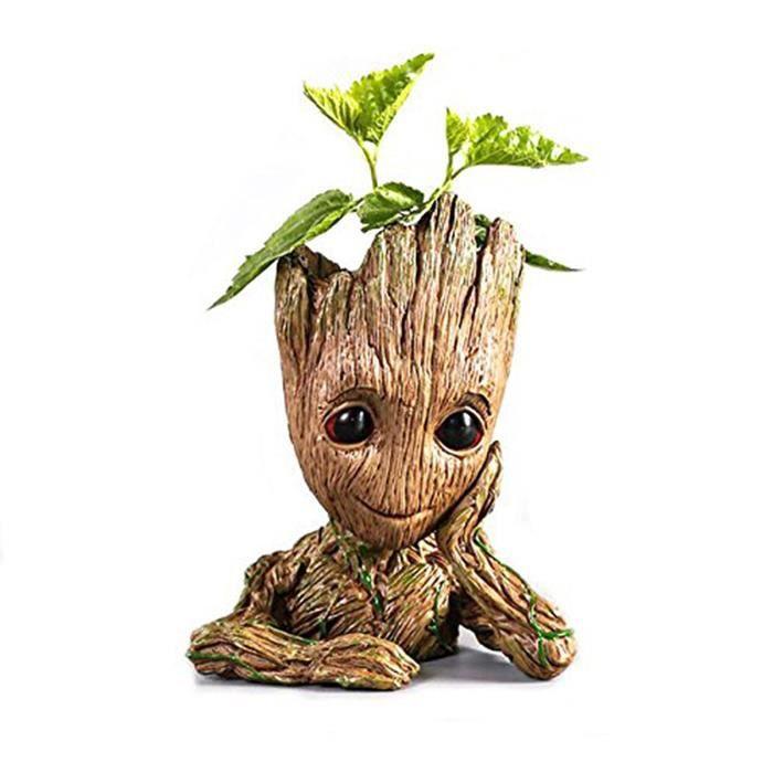 Groot Pot A Fleurs Ou A Stylos En Forme De Personnage De Dessin