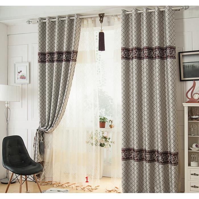 taffetas gris beaux rideaux de la fen tre pour le salon d 39 une seule pi ce et deux pi ces achat. Black Bedroom Furniture Sets. Home Design Ideas