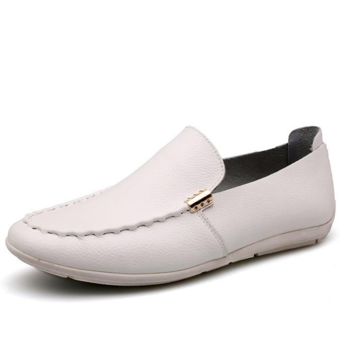 Chaussures Mocassins cuir Homme Chaussures Blanc xvsvYOgxu4