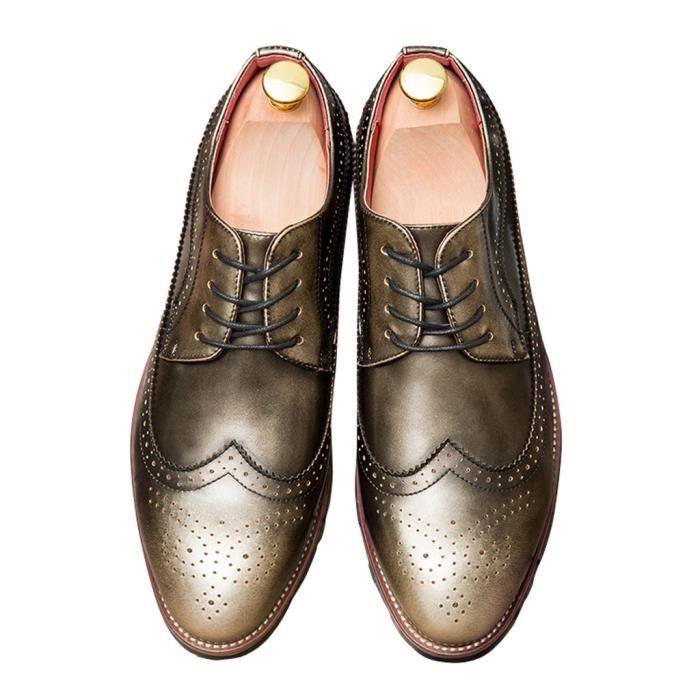 Richelieu Homme Cuir Pointe Style Britannique Mode Haute Qualité Nouvelle Arrivé HEE GRAND SiYxtS