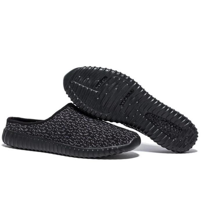 Pantoufles hommes chaussures en tissu Chaussures de sport pantoufles pour homme surface de tissage respirant Chaussures de toile iiZ7ry