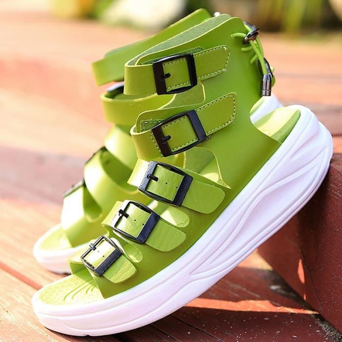 Nouveau mode Casual cuir pêcheur Chaussures Chaussures de plage Femmes Sandales haut IdVl1