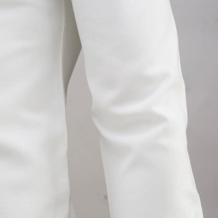 Mens Business Slim chemise à manches longues occasionnels chemise à manches longuesblanc