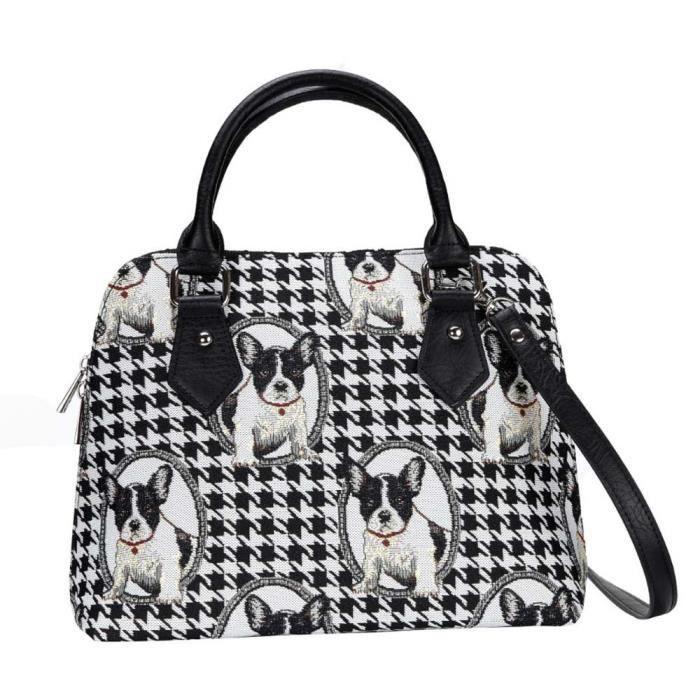 Signare sac à bandoulière bulldog français par | Mesdames tissu transformable sac à main 1KNX5I