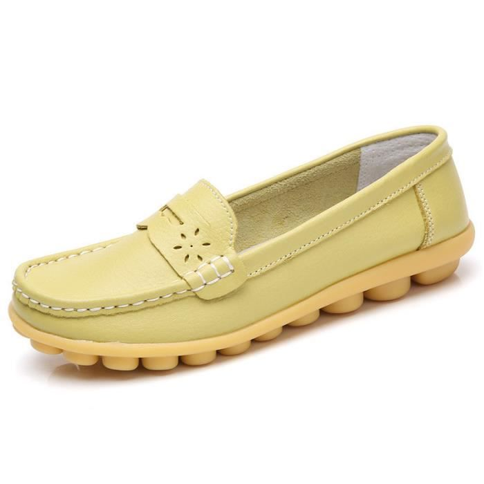 Mocassin Femme Casual Plat Tout-match Chaussures Sandales Loafers Ybrd49d6