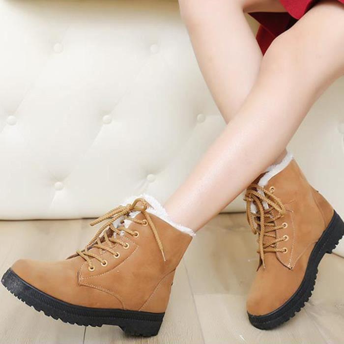 Chaussures chaudes de nouvelles femmes classiques Bottes de neige Chaussures courtes d'hiver de mode marron BNygdez
