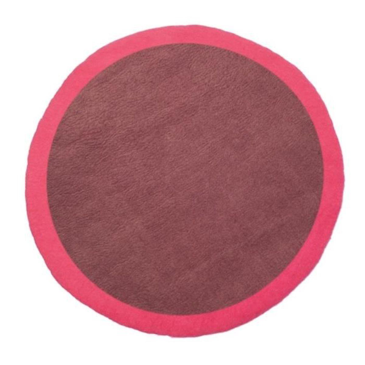 Tapis Rond Lumbini 120 Cm Ultra Rose Amethyste Violet Achat