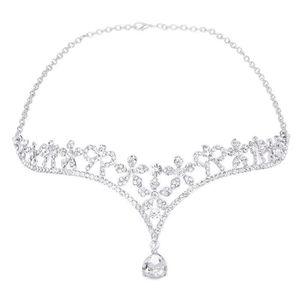 DIADÈME Couronne mariage avec le décor de fleur cristal(Ar