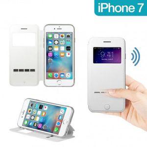 HOUSSE - ÉTUI Etui sensitive s-view pour iPhone 7 blanc
