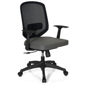 CHAISE DE BUREAU Chaise de bureau DELIGHT tissu à maille gris hjh O