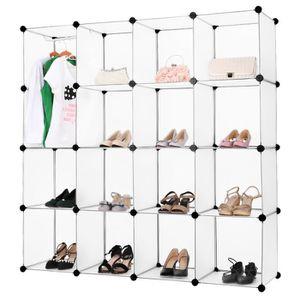Armoire De Chambre Noël 16 Cubes étagère à Chaussures Pour Vêtements
