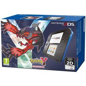 CONSOLE 2DS Console Nintendo 2DS bleu et noir  + Jeu Pokemon