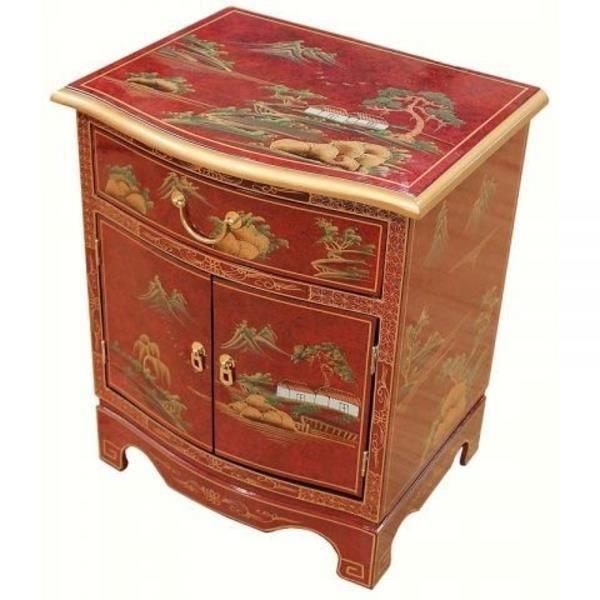 Rouge laqué Art Design armoire meubles orientaux de l\'Art chinois ...