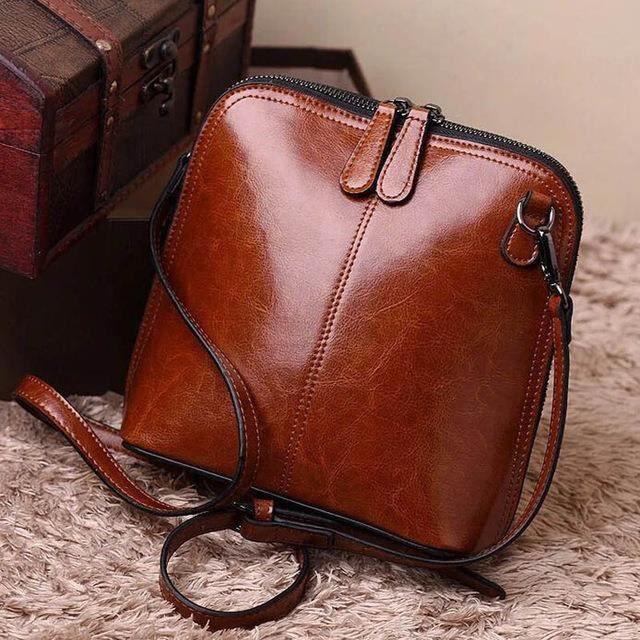 Sac à main en cuir 20x20x9 cm couleur brun